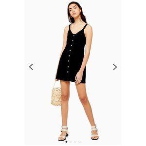 Topshop Button Front Denim Bodycon Dress
